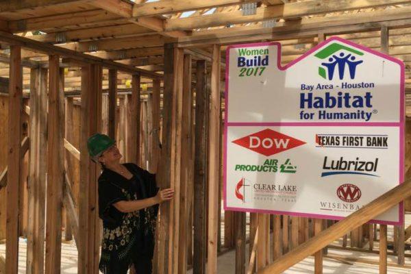 Marcia at Women Build House in La Porte