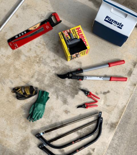 A photo of Habitat tools.